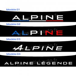 Bandeau Pare soleil Alpine type B