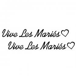Lettrage Vive les Mariés x2