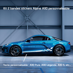 Kit Alpine A110 Stripe bas de caisse personnalisable