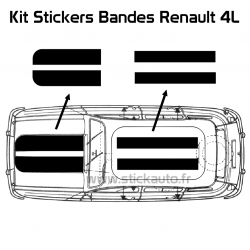 Kit Stickers Bandes Renault 4L Trophy