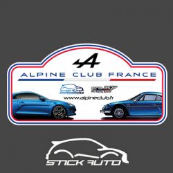 Sticker Alpine Club France