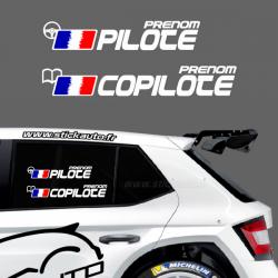 Lettrage Pilote Rallye Type H