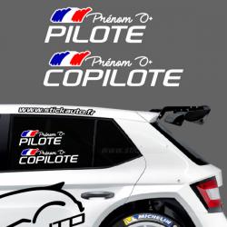 Lettrage Pilote Rallye Type K