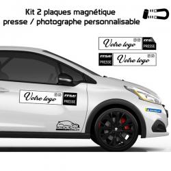 Kit 2 magnétique presse FFSA personnalisable