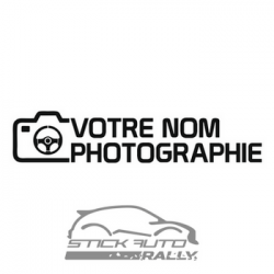 Kit 20 stickers pour photographe personnalisable