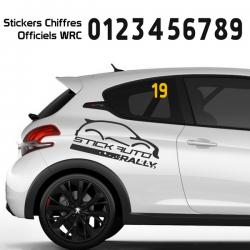 Numéro de course WRC 1/2 chiffres