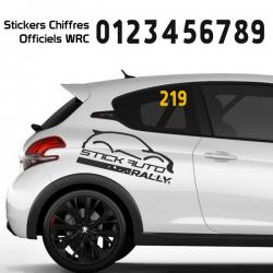Numéro de course WRC 3 chiffres
