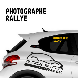 Sticker Photographe Rallye