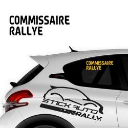 Sticker Commissaire Rallye