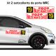 Kit 2 panneaux de porte FIA WRC type 2.