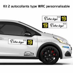 Kit 2 panneaux de porte WRC personnalisable