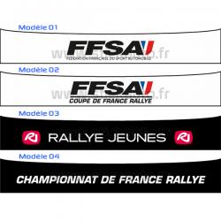 Bandeau Pare soleil FFSA Rallye