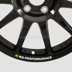 Kit 4 Stickers de jante RS Performance Renault Sport