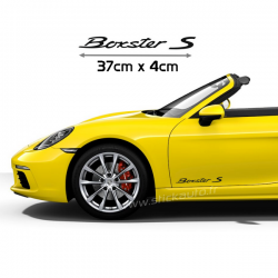 Kit 2 Stickers Porsche Boxster S 37cm x 4cm