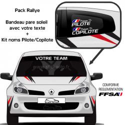 Pack Rallye Bandeau + Kit Noms