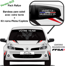 Pack Rallye Bandeau + Kit Noms Version ECO