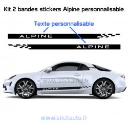 Kit bandes  Alpine damier bas de caisse à personnaliser
