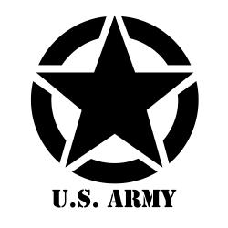 Jeep étoile US Army