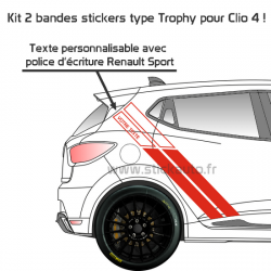 Kit Clio 4 type bande Trophy