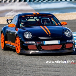 Kit stickers double bandes Porsche