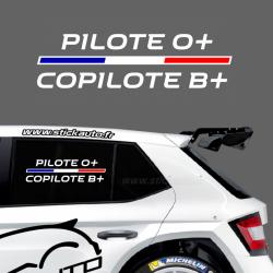 Lettrage Pilote Rallye Type E R.S.