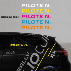 Lettrage Pilote Type Circuit R.S.
