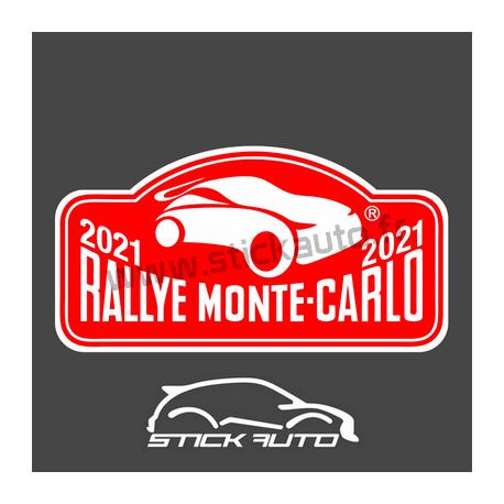 Plaque de Rallye Monte Carlo 2021 en autocollant