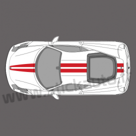 Kit double bandes stickers Ferrari 458