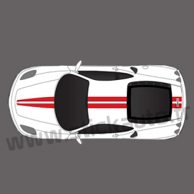 Kit double bandes stickers Ferrari F430 & 360 Modena