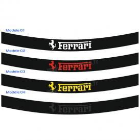 Bandeau Pare soleil Ferrari Sobre arrondi