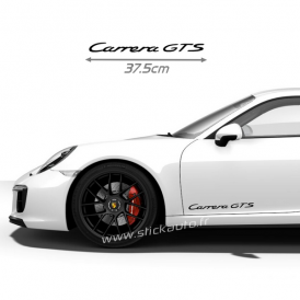 Kit 2 Stickers Porsche Carrera GTS 37cm