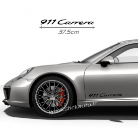 Kit 2 Stickers Porsche 911 Carrera 37cm