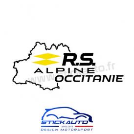 Sticker RS Alpine Occitanie