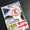 Planche de sticker STICK AUTO Rallye & Racing