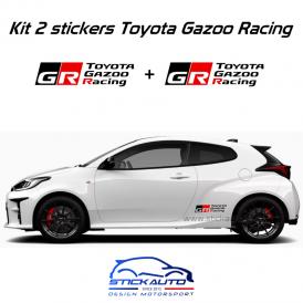 Kit 2 stickers Toyota Gazoo Racing 40cm