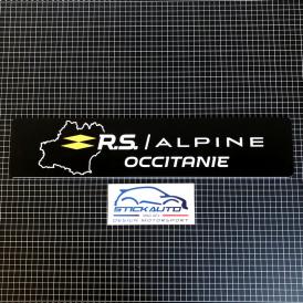 Cache plaque éco RS Alpine Occitanie version BLANC