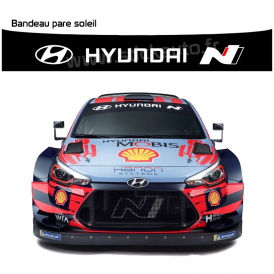Bandeau Pare soleil Hyundai I20 WRC