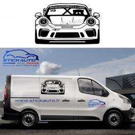 Sticker voiture design Alpine A110 Course