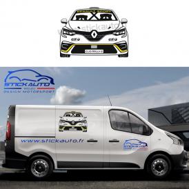 Sticker voiture design Renault Clio 5 Rally