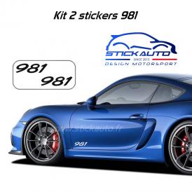 Kit 2 Stickers Porsche 981