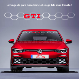 Lettrage de pare brise Volkswagen GTi nid d'abeille