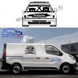 Sticker voiture design Peugeot 208 Rally4