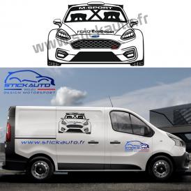 Sticker voiture design Ford Fiesta ST Rally