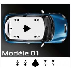 Stickers de toit Carte ( DS3, Mini, Fiat 500, etc... )