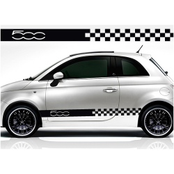 Kit Fiat 500 bandes damiers