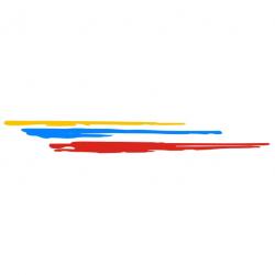 Griffe Peugeot Sport Gauche 3 couleurs