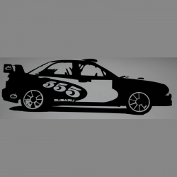 Stickers Subaru Rally 555