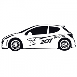 Stickers Peugeot 207 S2000