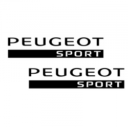 Kit Peugeot Sport 2 Stickers 25 cms