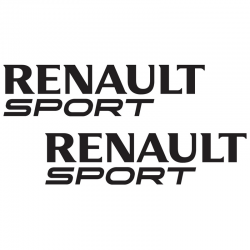 Kit Renault Sport 2 Stickers 25 cms